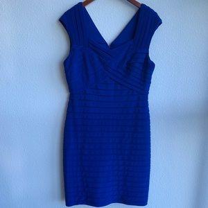 Adrianna Papell Blue Flutter Dress